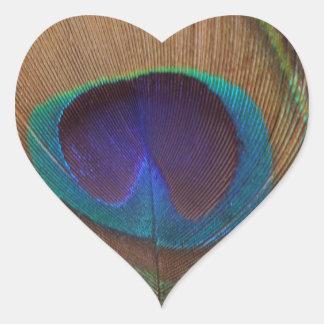 Netter Feder-Herz-Aufkleber Herz-Aufkleber