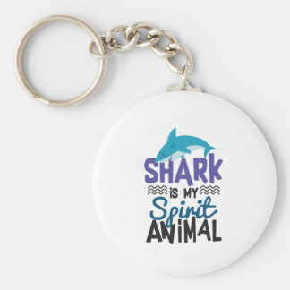 Netter Haifisch ist mein Geist-Tierdruck Schlüsselanhänger