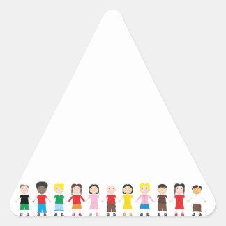 Netter/Kinder/Niños Dreieckiger Aufkleber