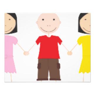 Netter/Kinder/Niños Bedruckte Flyer