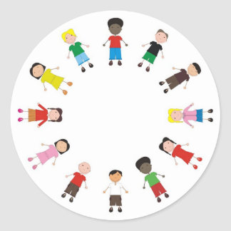 Netter/Kinder/Niños Runder Aufkleber