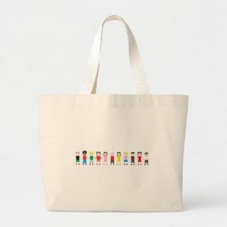 Netter Kinder Niños Leinentaschen