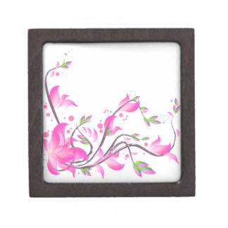 netter reizender rosa Blumendekorationsschutz Kiste