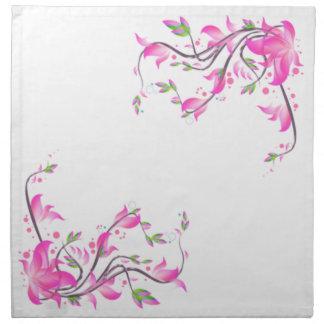 netter reizender rosa Blumendekorationsschutz Serviette