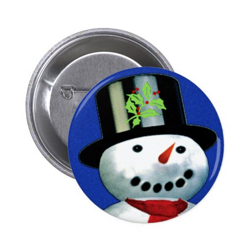 netter Schneemann im Zylinder Buttons