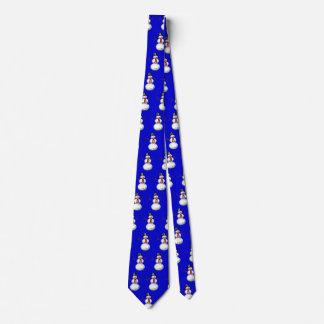 netter Schneemann im Zylinder Krawatte