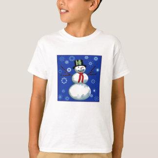 netter Schneemann im Zylinder T-Shirt