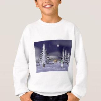 Netter Schneemann in der Nacht Sweatshirt