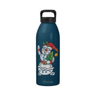 Netter Schneemann Wasserflasche
