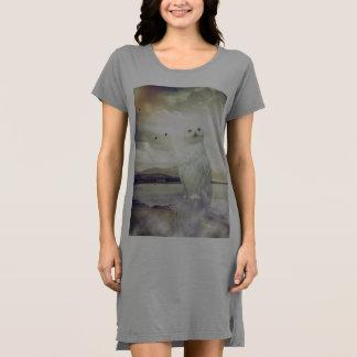 Netter Snowy-Eulen-T - Shirt, Kleid, Nightie Kleid