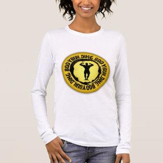 Nettes Bodybuildings-Siegel Langarm T-Shirt