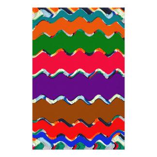 Nettes buntes Wellen-Muster Druckpapiere