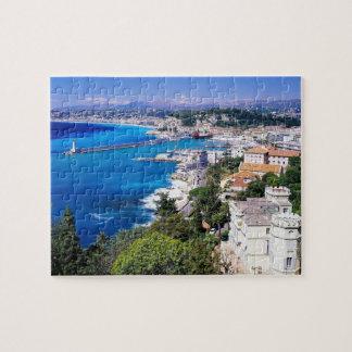 nettes Frankreich-Küstenpuzzlespiel Puzzle