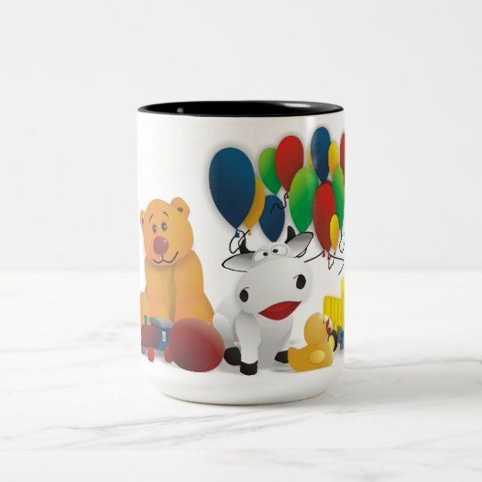 Nettes Kindermotiv Zweifarbige Tasse