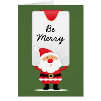 Nettes personalisiertes Weihnachten Sankt Karte