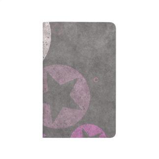 nettes schönes Herz formt abstrakten Entwurf Taschennotizbuch