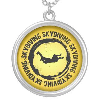 Nettes Skydiving Siegel Versilberte Kette