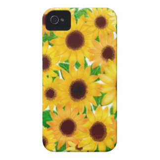 Nettes Sonnenblume-BlackBerry-mutiger Kasten Case-Mate iPhone 4 Hülle