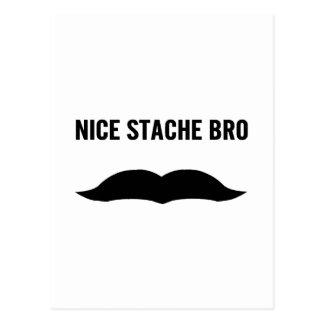 Nettes Stache Bro Postkarten