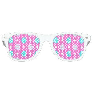 Nettes süßes rosa buntes Ostereimuster Sonnenbrille