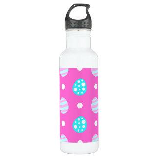 Nettes süßes rosa buntes Ostereimuster Trinkflasche