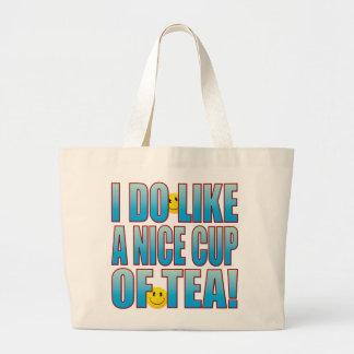 Nettes Tee-Leben B Jumbo Stoffbeutel