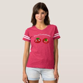 Nettes Tomate-Brustkrebs-Bewusstseins-T-Shirt T-shirt