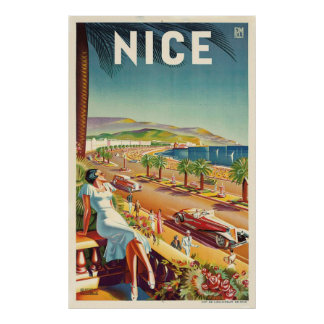 Nettes Vintages Reise-Plakat Frankreichs Poster