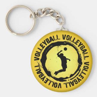 Nettes Volleyball-Siegel (Mann) Schlüsselanhänger