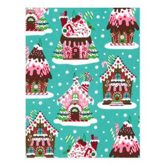 Nettes Weihnachtslebkuchenhaus Postkarte