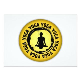 Nettes Yoga-Siegel Karte