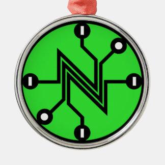 Nettoneutralität Silbernes Ornament