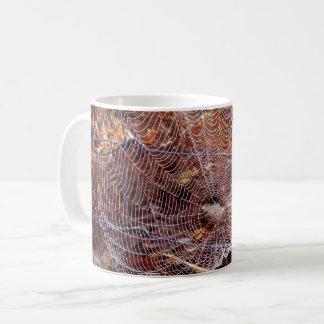 Netz der europäischen Garten-Spinnen-Tasse Kaffeetasse