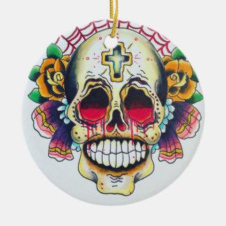 Netz der Schädelverzierung Rundes Keramik Ornament