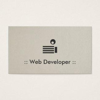 Netz-Entwickler-einfaches elegantes berufliches Visitenkarten