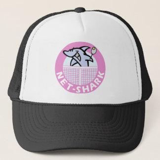 Netz-Haifisch-rosa Truckerkappe