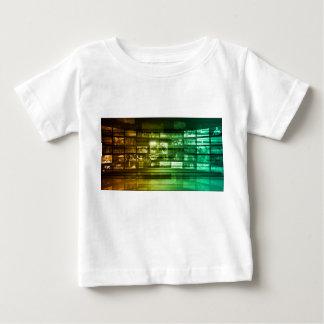 Netz-Informationstechnologie-Kunst der Zukunft Baby T-shirt