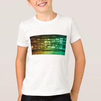 Netz-Informationstechnologie-Kunst der Zukunft T-Shirt