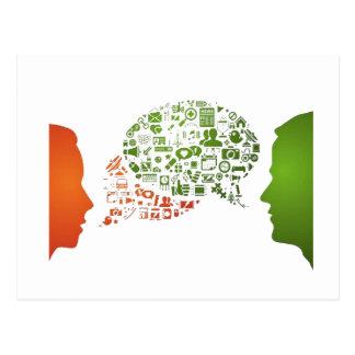 Netzgespräch - Kommunikation Postkarte