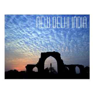Neu-Delhi Indien Eisen-Säulenpostkarte Postkarte