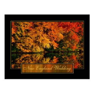 Neu-England Herbst-Hochzeits-Einladung Postkarte