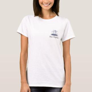 Neu-England mit Schiffs-Logo T-Shirt