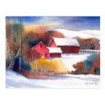 Neu-England Tal-Bauernhof Postkarte