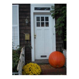 Neu-England Tür im Herbst Postkarten