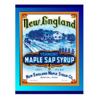 Neu-England Vermont Ahornsirup Postkarte