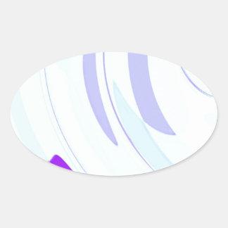 Neu erstellter Erzengel-Flügel durch Robert S. Lee Ovaler Aufkleber