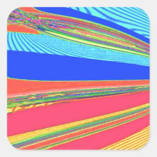 Neu erstellter Erzengel-Flügel durch Robert S. Lee Quadratischer Aufkleber