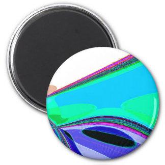 Neu erstellter Erzengel-Flügel durch Robert S. Lee Runder Magnet 5,7 Cm