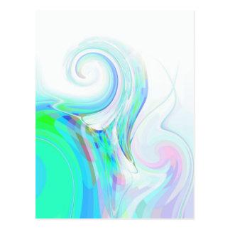 Neu erstellter Tsunami Postkarte