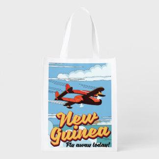 Neu-Guinea Abenteuerplakat Wiederverwendbare Einkaufstasche